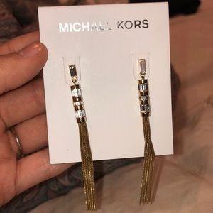 Michael kors Black tie affair tassle earring